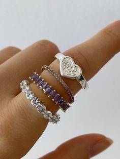 Trendy Jewelry, Cute Jewelry, Silver Jewelry, Silver Rings, Fashion Rings, Fashion Jewelry, Piercings, Accesorios Casual, Disney Jewelry