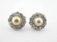 Pearl & diamond studs Pearl Diamond, Diamond Studs, Archive, Pearl Earrings, Pearls, Antiques, Jewelry, Diamond Earrings, Antiquities