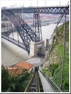 The Funicular dos Guindais is perhaps the most notable method of transport in Porto, Portugal, and is as much of an attraction in its own right as it is a means of travelling from one part of the city to another. Visit Portugal, Spain And Portugal, Portugal Travel, Plan Incliné, Portuguese Culture, Douro, The Beautiful Country, Best Cities, Amazing Destinations