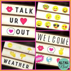More Lightbox Fun! More Lightbox Fun! Use the Heidi Swapp Lightbox in speech/language therapy or to perk up your therapy room! Light Up Message Board, Classroom Arrangement, Licht Box, Light Up Box, Marquee Sign, Light Letters, Heidi Swapp, Teacher Gifts, Teacher Stuff
