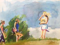 Blond bubble 20 x 30 cm on paper Blond, Watercolour, Bubbles, Paper, Painting, Art, Pen And Wash, Art Background, Watercolor Painting