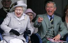 Queen Elizabeth II and Prince Charles at the 2010 Braemar Highland Games