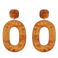 Acrylic Brown Earrings