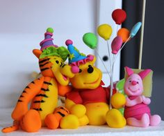 Winnie the pooh - out of molding clay - cute 4 babies room shelf