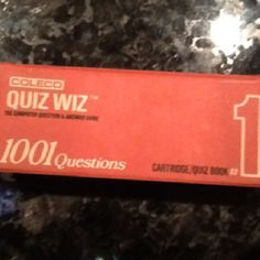 Coleco Quiz Whiz from the 80's