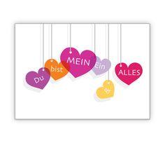 """Valentinskarte: """"Du bist mein Ein und Alles""""' - http://www.1agrusskarten.de/shop/valentinskarte-du-bist-mein-ein-alles/    00000_1_770, Grußkarte, Herz, Klappkarte, Liebe, Love, Romantik, Valentinskarten, von Herzen00000_1_770, Grußkarte, Herz, Klappkarte, Liebe, Love, Romantik, Valentinskarten, von Herzen"""