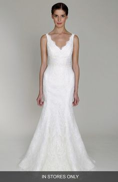 BLISS Monique Lhuillier Embroidered Lace Trumpet Dress (In Stores Only) available at #Nordstrom