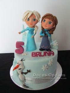 Doces Opções: Bolo de aniversário Disney Frozen