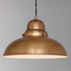 Buy John Lewis Antonio Lamp, Brass, 1 Light online at JohnLewis.com - John Lewis