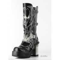 Spawn Skull Womens Knee Boot