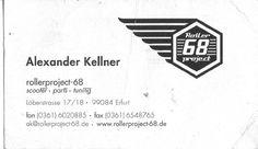 [Rollerproject 68] Visiterkarte