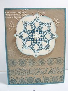 Snowflake Soiree Christmas Card Stamping With Bev