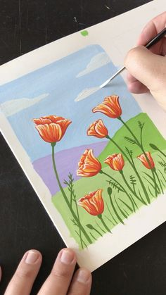 Painting Flowers with Gouache by Philip Boelter Painting Flowers with Gouache by Philip Boelter Boelter Design Co PhilipBoelter Art Illustration See more inspiring and satisfying art nbsp hellip Painting videos Gouache Painting, Painting & Drawing, Painting Videos, Drawing On Canvas, Wreath Drawing, Back Painting, Diy Canvas Art, Simple Canvas Art, Mini Canvas