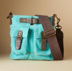 WORLD EXPLORER BAG in turquoise -Sundance Catalog