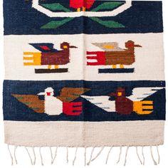 After Online | Wool Floor Rug – Flores y Pájaro