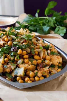 Roasted Cauliflower Salad with Spicy Dressing by Healthful Pursuit