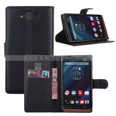 For Motorola Droid Turbo XT1254 Arrival Luxury Litchi Lines Leather Wallet Case #CCVISION