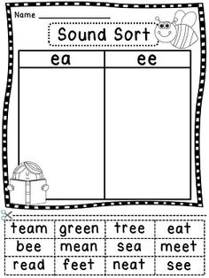 Phonics sound sorts cut and pastes to last all year!