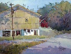 J Hicks art | ... Mountain Highlands Barn an original watercolor painting by Joyce Hicks