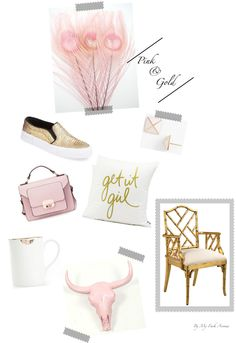 Pink & Gold prettiness on the blog: My Fash Avenue