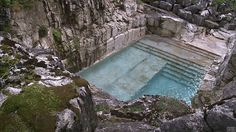 nonconcept:Quarry turned into luxury swimming pool. (Gifset via:...