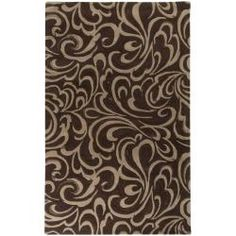 @Overstock - Hand-tufted of wool, this Candice Olson rug exudes sophistication with its graceful floral pattern. Shades of brown, chocolate, mushroom and cafe enhance the hand-carved details of this floor rug.http://www.overstock.com/Home-Garden/Hand-tufted-Candice-Olson-Divine-Chocolate-Wool-Rug-5-x-8/5714001/product.html?CID=214117 $825.00