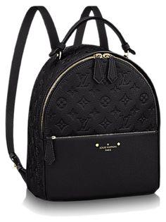 Sorbonne Backpack Monogram Empreinte in Women's Handbags collections by Louis Vuitton Mochila Louis Vuitton, Louis Vuitton Handbags, Purses And Handbags, Leather Handbags, Black Louis Vuitton Backpack, Luxury Purses, Luxury Bags, Backpack Travel Bag, Fashion Backpack