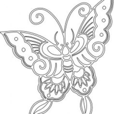 free stencils | Free vector stencils from the Arts & Crafts movement. Butterfly.