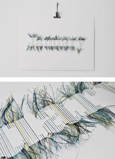 Hand Stitched Typographic Artwork