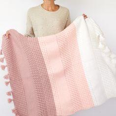 Ombre Textured Blanket Crochet Pattern - My Yarn Club Afghan Crochet Patterns, Crochet Afghans, Baby Blanket Crochet, Crochet Stitches, Crochet Hooks, Crochet Baby, Knitting Patterns, Knit Crochet, Baby Blanket Patterns