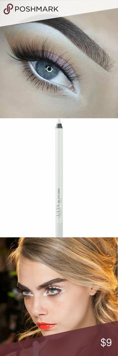 White Gel Eyeliner Pencil A super creamy, pigmented gel eyeliner pencil that provides effortless smooth application and lasting pigmented coverage. Apply under brow as a highlight, on lids for a winged look or on waterline. Personally, I like to use it as a base for eyeshadow or eyeliners that don't usually pop on their own. The white base gives ordinary colors that extra oomph or make bold colors even brighter. Bit of shimmer. Make eyes pop. Great makeup trick for small eyes…