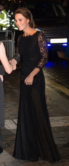 How gorgeous is Kate Middleton in this DVF dress?!