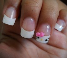 hello kitty, nail polish, nails (Full Size)