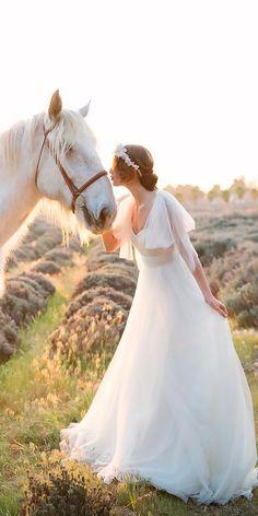 30 Beautiful Wedding Dresses By Top USA Designers ❤ beautiful wedding dresses a line fowy with sleeves jenny yoo ❤ See more: http://www.weddingforward.com/beautiful-wedding-dresses/ #weddingforward #wedding #bride