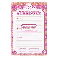 Jonathan Adler Circle Ornaments Notepad