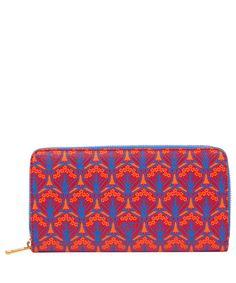 Liberty London Red Iphis Zip-Around Wallet