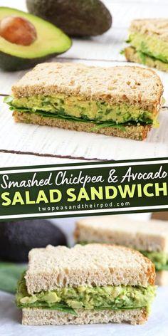 Veg Recipes, Lunch Recipes, Vegetarian Recipes, Cooking Recipes, Recipies, Veggie Sandwich, Salad Sandwich, Chickpea Sandwich, Healthy Sandwiches