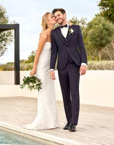 Mehr Hochzeitsanzüge findet ihr auf unserer Homepage. Business Mode, Wedding Dresses, Outfits, After Six, Fashion Suits, Mens Fashion, Vintage Stil, Wedding Ideas, Wedding