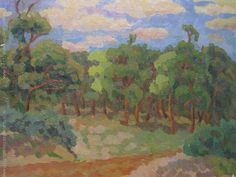 "Pablo Felipe Villegas Mañé ""En el bosque"" Óleo sobre tela 30 x 39 cm.  http://www.portondesanpedro.com/ver-producto.php?id=12174"