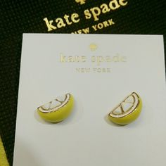 Sale❗Kate Spade Lemon Studs Cute lemon studs. 12k gold and enamel coating with 14k gold filled posts. Brand New! No Trades! kate spade Bags Wallets