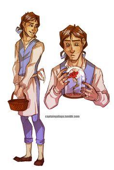 Genderbent Disney princesses - Belle I don't think he'd have above but pretty good :)