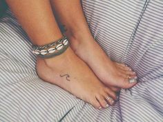 Image result for tiny wave tattoo on ankle