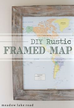 Newlywed map marks place buckets and future how to make your own rustic framed map thats kid friendly meadowlakeroad gumiabroncs Gallery