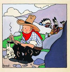Tintin In America Original Cover Art By Hergé Brings World Record $1.6 Million At Auction