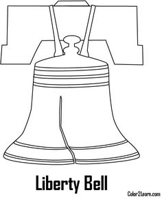Liberty Bell Coloring Page Liberty bells Liberty and Social studies