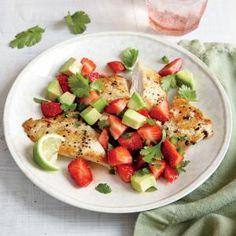 Chicken Cutlets with Strawberry-Avocado Salsa | MyRecipes.com