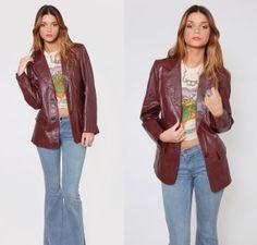 Vintage 70's Boho Leather Jacket sraWs3eZ