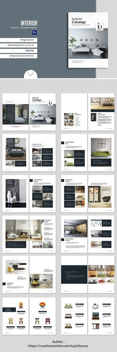 Minimal Brochure Vol II Brochures, Layouts and Editorial - interior design brochure template