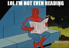 60's Spiderman Meme