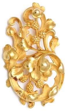 Antique Gothic Revival Brooch. 18k-gold Gothic Revival brooch. In original fitted case. By Wiese, French, circa 1890.